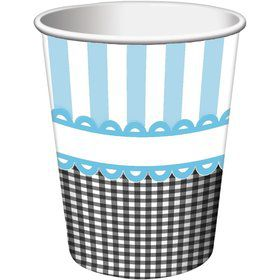Sweet Baby Feet Blue 9oz Cups (8 Pack)