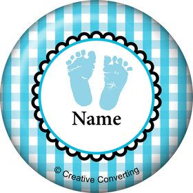 Sweet Baby Feet Blue Personalized Mini Magnet (Each)