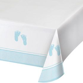 Sweet Baby Feet Blue Table Cover (Each)