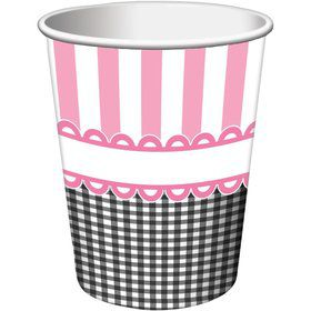 Sweet Baby Feet Pink 9oz Cups (8 Pack)