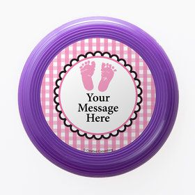 Sweet Baby Feet Pink Personalized Mini Discs (Set of 12)