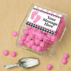 Sweet Baby Feet PinkPersonalized Candy Bin with Candy Scoop (10 Count)