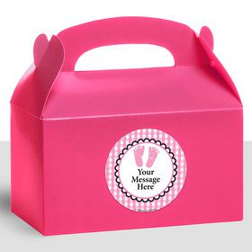 Sweet Baby Feet PinkPersonalized Treat Favor Boxes (12 Count)