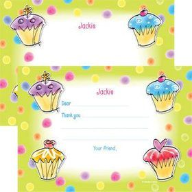 Sweet Celebration Personalized Thank You Note (each)