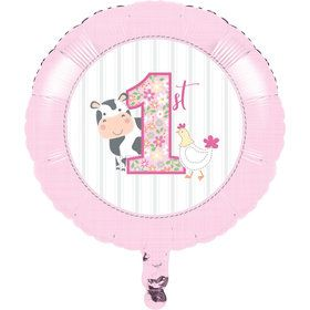 Sweet Farmhouse 1st Birthday Foil Balloon