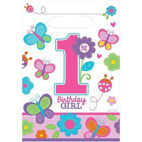 Sweet Girl 1st Birthday Favor Bags (8)