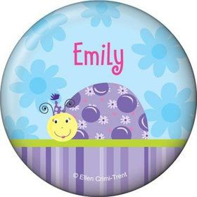 Sweet Ladybug Personalized Button (each)