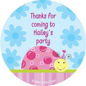 Sweet Ladybug Personalized Stickers (sheet of 12)