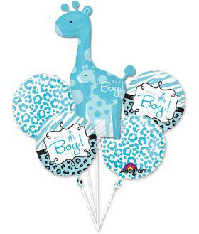 Sweet Safari Boy Balloon Bouquet