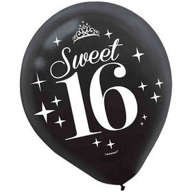 Sweet Sixteen Latex Balloons (6 Count)