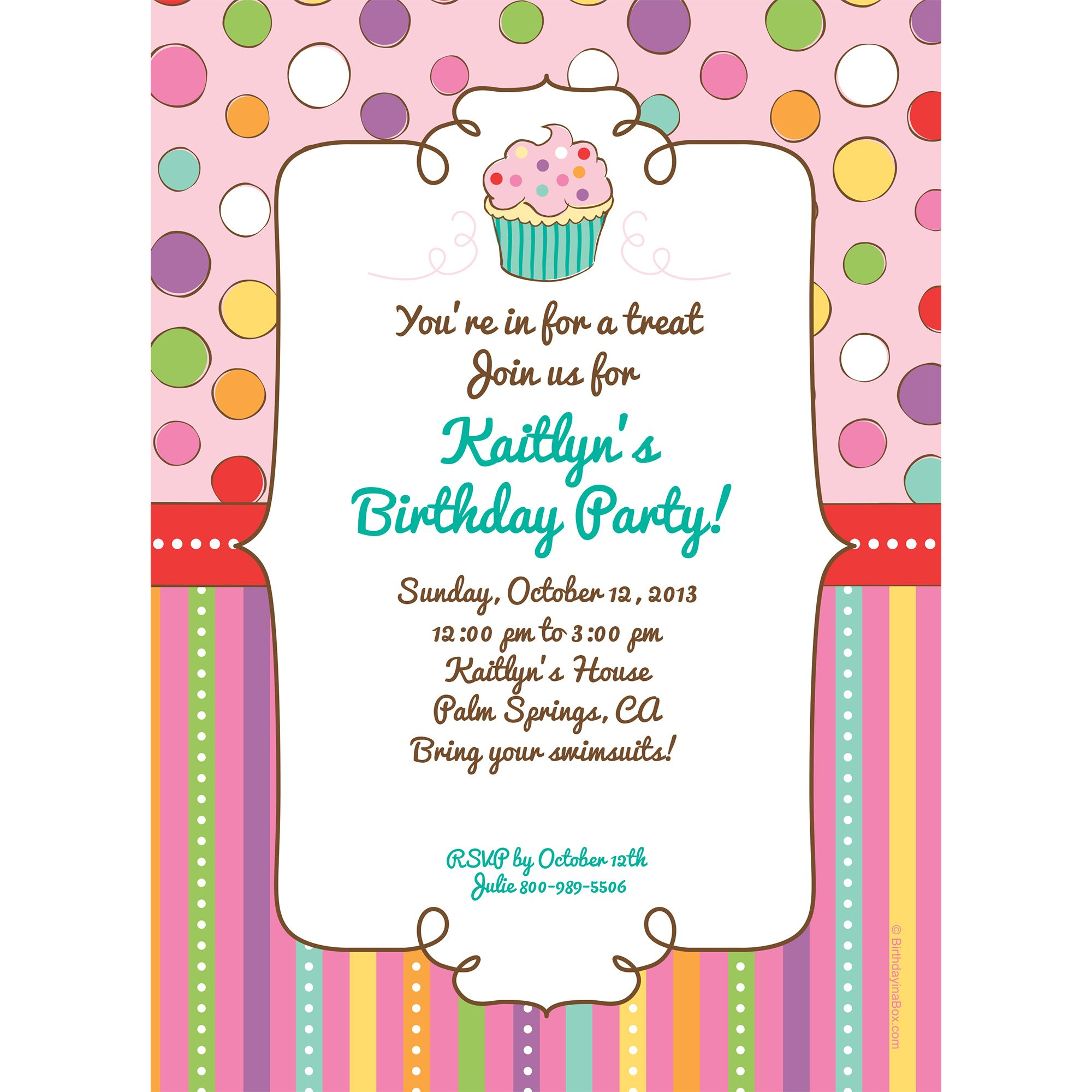 Sweet Stuff Invitation (Each) - Party Supplies BB700194IN