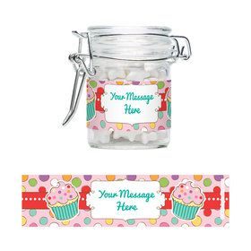 Sweet Stuff Personalized Swing Top Apothecary Jars (12 ct)