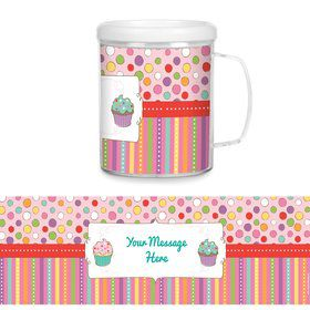 Sweet Stuff Plastic Personalized Favor Mugs (Each)