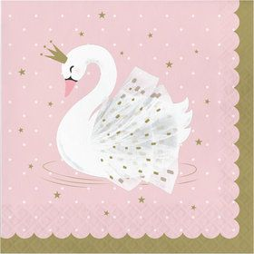 Sweet Swan Lunch Napkins (16)
