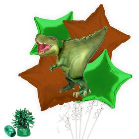 T-Rex Dinosaur Balloon Bouquet Kit