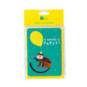 Talking Tables Party Animals Invites with Envelopes