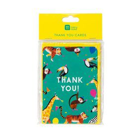 Talking Tables Party Animals Thank You Cards with Envelopes