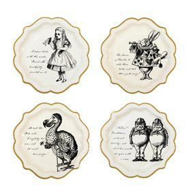 Talking Tables Truly Alice Assorted Shaped Lunch Plate