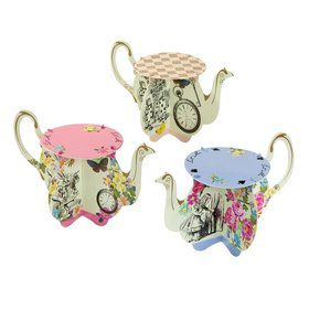 Talking Tables Truly Alice Assorted Teapot Cupcake Stand
