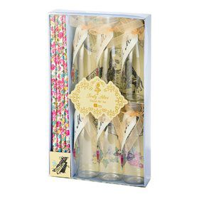 Talking Tables Truly Alice Mini Bottle, Tag & Straw Set