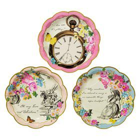 Talking Tables Truly Alice Plate Assorted Shaped Dessert Plate
