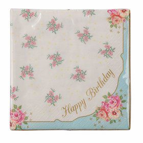 Talking Tables Truly Scrumptions Happy Birthday Lunch Napkin