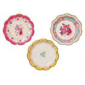 "Talking Tables Truly Scrumptious Assorted 7"" Scallop Dessert Plate"