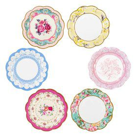 "Talking Tables Truly Scrumptious Assorted ""Vintage"" Dessert Plate"