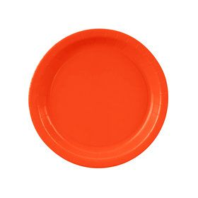 Pumpkin Orange Dessert Paper Plates (8 Count)
