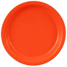 Pumpkin Orange Paper Dinner Plates (8 Count)