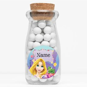 "Tangled Personalized 4"" Glass Milk Jars (Set of 12)"