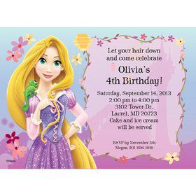 Tangled Personalized Invitation (Each)