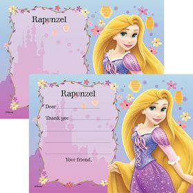 Tangled Personalized Thank You Note (Each)
