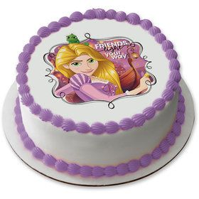 "Tangled Rapunzel 7.5"" Round Edible Cake Topper (Each)"