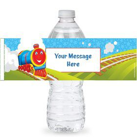 Tank Engine Personalized Bottle Labels (Sheet of 4)