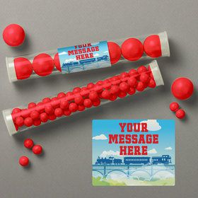 Tank Engine Personalized Candy Tubes (12 Count)