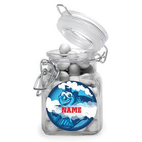 Tank Engine Personalized Glass Apothecary Jars (10 Count)