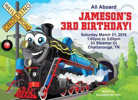 Tank Engine Personalized Invitation (each)