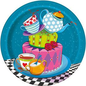 "Tea Party 7"" Plates (8 Pack)"