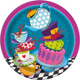 "Tea Party 9"" Plates (8 Pack)"