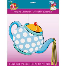 Tea Party Large Hanging Décor Tea Pot w/ Foil