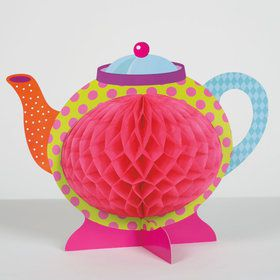 "Tea Party Large Honeycomb Centerpiece - 10 1/4"" H"