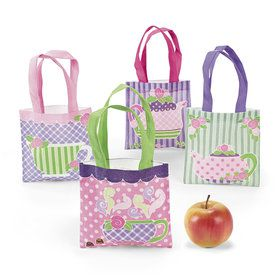 Tea Party Mini Tote Bags (12)