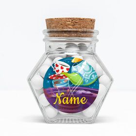 "Tea Party Personalized 3"" Glass Hexagon Jars (Set of 12)"