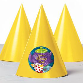 Tea Party Personalized Party Hats (8 Count)