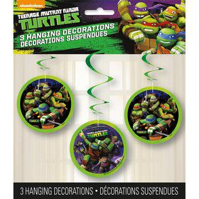 Teenage Mutant Ninja Turtle Swirl Decorations (3 Pack)