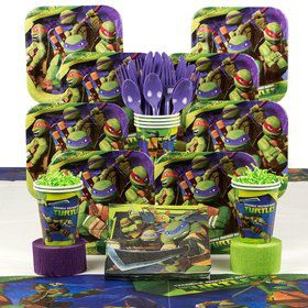 Teenage Mutant Ninja Turtles Birthday Party Deluxe Tableware Kit serves 8