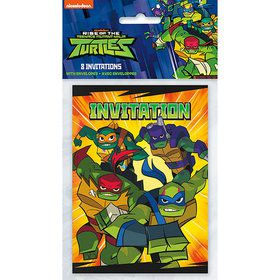 Teenage Mutant Ninja Turtles Invitations (8)