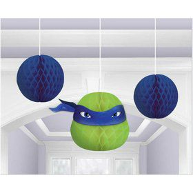Teenage Mutant Ninja Turtles Leonardo Honeycomb Decorations (3)