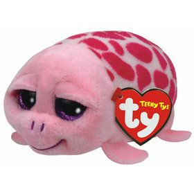 Teeny Ty Shuffler Pink Turtle Plush